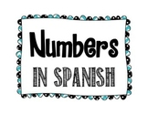 Spanish Number Posters - Chevron & Polka Dots