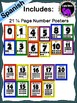 Spanish Number Posters With Ten Frames - Primary Colors