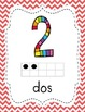 Spanish Number Posters from 1 to 50 (Chevron)