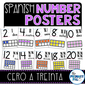 Spanish Number Posters to 20