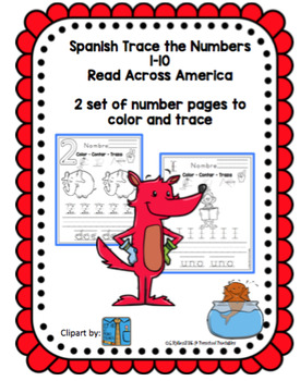 Spanish Number Practice 1-10 Read Across America