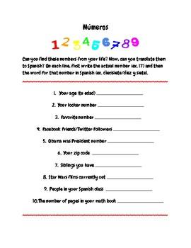 Spanish Number Practice