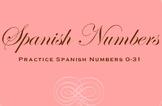 Spanish Number Practice Activity