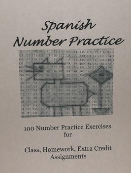 Spanish Number Practice Exercises