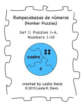 Spanish Number Puzzles, Set 1