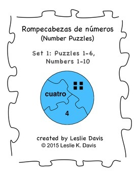Spanish Number Puzzles, Set 1