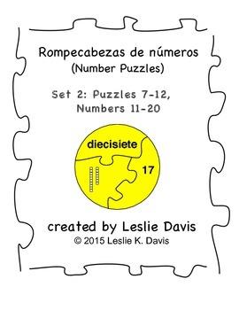 Spanish Number Puzzles, Set 2