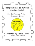 Spanish Number Puzzles, Set 2