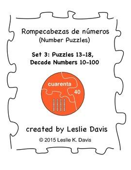 Spanish Number Puzzles, Set 3