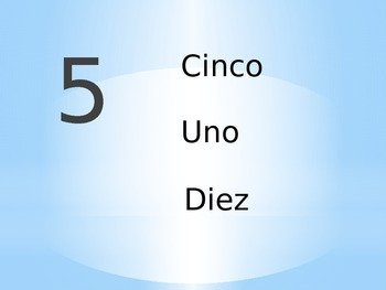 Spanish Number Review