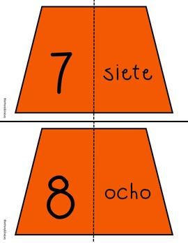 1-20 Number Sense Puzzles-Spanish