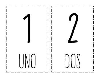Spanish Number Set