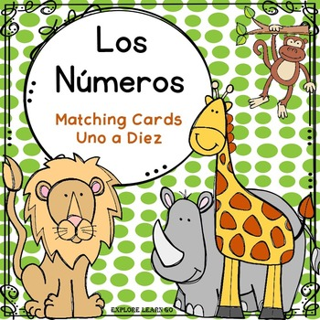 Spanish Number Word Matching Cards / Zoo Theme / Montessori Style
