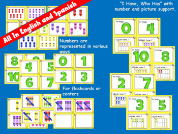 Spanish Numbers 0-10 Math and Literacy Crayon Unit