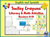 Numbers 0-10 Math and Literacy Crayon Unit Spanish and English