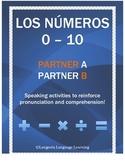 Spanish Numbers 0 - 10 Partner Speaking Activity