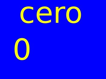 Spanish Numbers 0 - 10 PowerPoint - Includes Practice