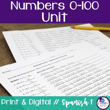 Spanish Numbers 0-100 Bundle