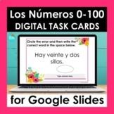 Spanish Numbers 0-100 Google Slides   Digital Task Cards