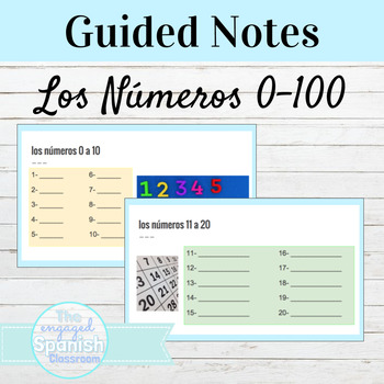 Spanish Numbers 0-100 Packet for Notes/Practice