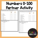 Spanish Numbers 0-100 Partner Activity