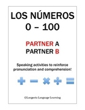 Spanish Numbers 0 - 100 Partner Speaking Activity