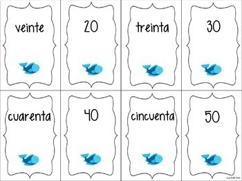 Spanish Numbers 0-100 ¡Pesca! (Go Fish) Game