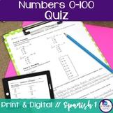 Spanish Numbers 0-100 Quiz