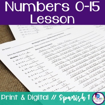 Spanish Numbers 0-15 Lesson