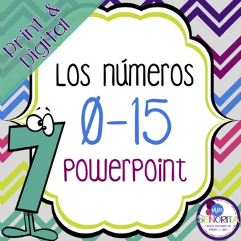 Spanish Numbers 0-15 Powerpoint