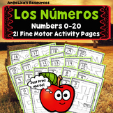 Spanish Back to School Activities : Los Numeros  - Apple Ten Frames - Tracing