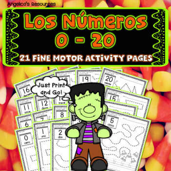 Spanish Numbers 0-20: Los Números - Halloween Activities