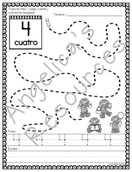 Spanish Halloween Activities : Los Numeros - Just Print & Go!