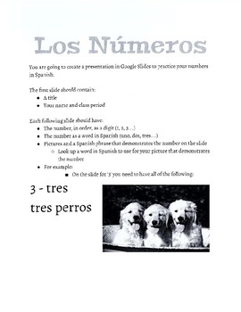 Spanish Numbers 0-20 Packet