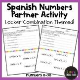 Spanish Numbers 0-30 Partner Activity - Locker Combination Themed