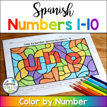 Spanish Numbers 1-10 Coloring Sheets