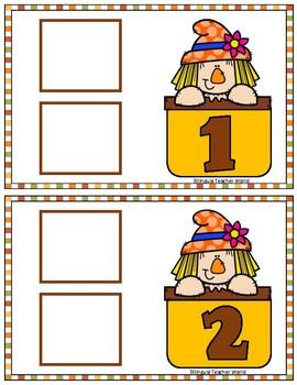 Spanish Numbers 1-10 Game:  Autumn theme