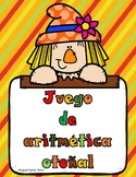 Spanish Numbers 1-10 Game:  Autumn theme