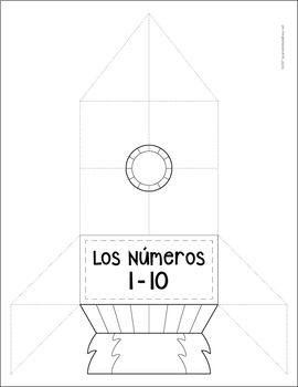 Spanish Numbers 1-10 Interactive Notebook Activity