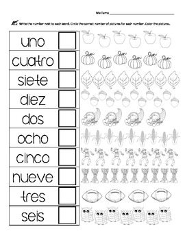 Spanish Numbers 1-10 Practice by Tiffany vs HS | TpT