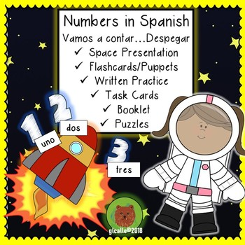 Spanish Numbers 1-10 Space Blast Off