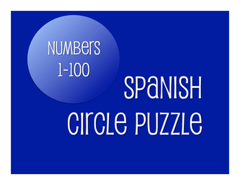 Spanish Numbers 1-100 Circle Puzzle