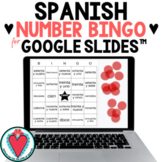 Spanish Games - Spanish Numbers 1-100 - Digital Bingo for Spanish Google Slides