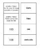 Spanish Numbers 1-100 Matching Game