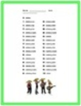 Spanish Numbers 1-100 Oral Quiz Handouts Packet