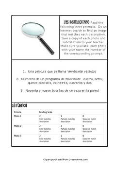 Spanish Numbers 1-100 Paperless Challenges
