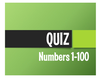 Spanish Numbers 1-100 Quiz