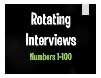 Spanish Numbers 1-100 Rotating Interviews