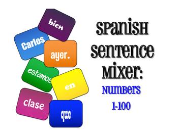 Spanish Numbers 1-100 Sentence Mixer