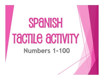 Spanish Numbers 1-100 Tactile Activity